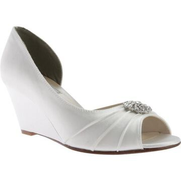 Touch Ups Women's Lee Wedge White Satin