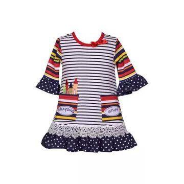 Bonnie Jean Girls' Baby Girls Crayon Dress - -
