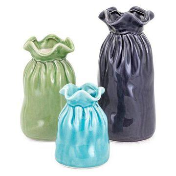 IMAX Home 10938-3 Carter Three Piece Ceramic Vase Set