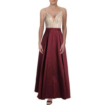Xscape Womens Formal Dress Illusion Embellished - 14