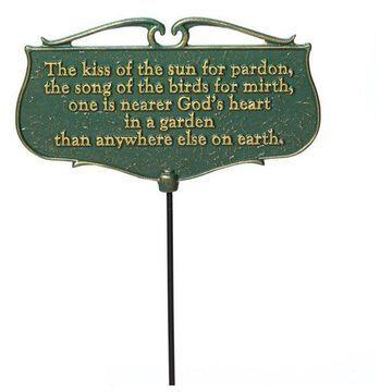 Garden Poem Sign With 17