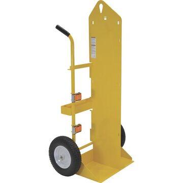 Vestil Welding Cylinder Cart - 500-Lb. Capacity, Foam-Filled Wheels, Powder-Coat Finish, Model CYL-EH-FF