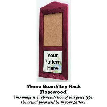 Mason's Paynsley Pink Rosewood Memo Board/Key Rack HC