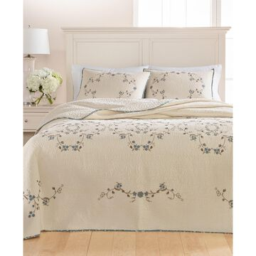Westminster Vines Cotton Queen Bedspread, Created for Macy's
