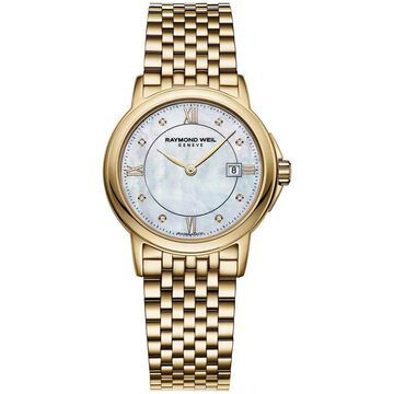 Raymond Weil Women's 5966-P-00995 Goldtone Mother of Pearl Dial Stainless Steel Watch