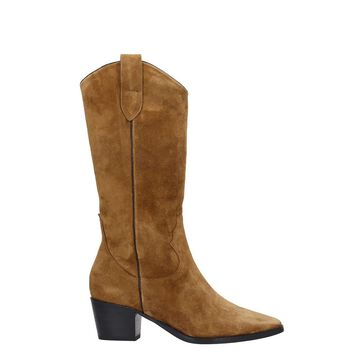 Bibi Lou Texan Boots In Leather Color Suede