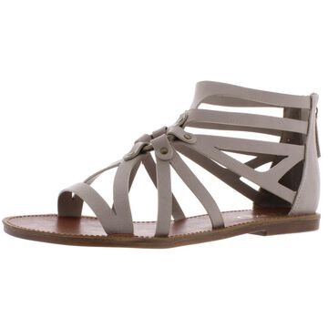 XOXO Womens Cristobal Faux Leather Casual Gladiator Sandals