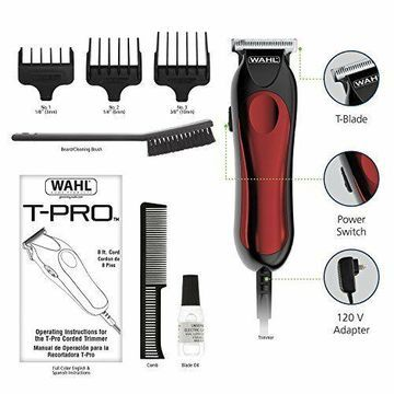 Wahl Hair T-Pro Clippers Beard Mustache Professional Trimmer Barber Shaver Liner