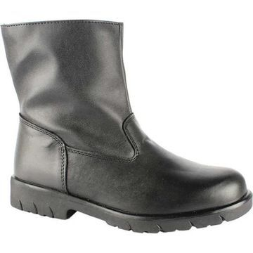 Toe Warmers Men's Track Waterproof Side Zip Boot Black Leather/Polyuretahne