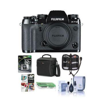 ''Fujifilm X-T2 Mirrorless Body, Black - With Free Accessory Bundle #16519247 A''