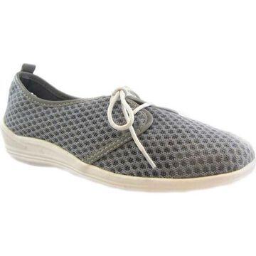 Beacon Shoes Women's Laurie Sneaker Grey Mesh Fabric