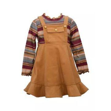 Bonnie Jean Girls' Toddler Girls Corduroy Bib Jumper With Turtleneck - -