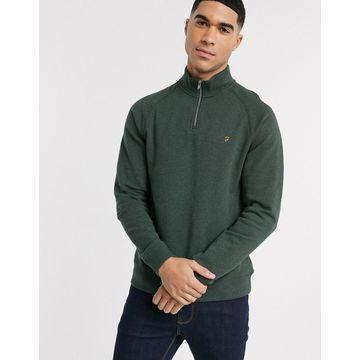 Farah Jim half zip sweatshirt in green