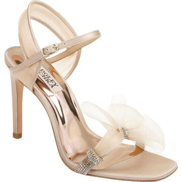 Badgley Mischka Womens Jessica Slingback Heels Leather Ankle Strap