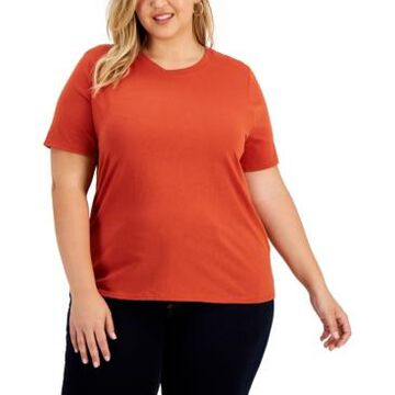 Inc International Concepts Plus Size Cotton T-Shirt, Created for Macy's