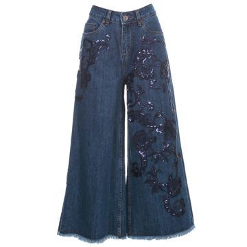 Antonio Marras George Jeans Cropped W/embrodery And Logo Behind