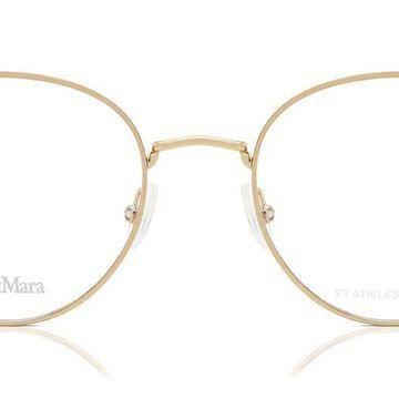 Max Mara MM 1352 000 Womenas Glasses Gold Size 50 - Free Lenses - HSA/FSA Insurance - Blue Light Block Available