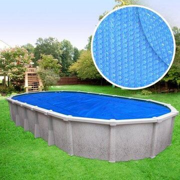 Robelle Heavy-Duty Solar Cover for Above Ground Swimming Pools, Oval - 18 x 33 Feet