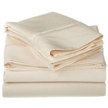 Superior Egyptian Cotton 1200 Thread Count Deep Pocket Bed Sheet Set (Full - Ivory)