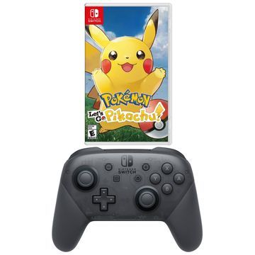 Nintendo Switch Pokemon Let's Go Pikachu! withPro Controller