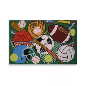 Fun Rugs Let's Play 3-Foot 3-Inch X 4-Foot 10-Inch Area Rug In Green