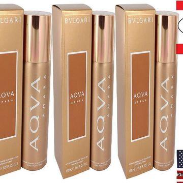 3 Pack Bvlgari Aqua Amara by Bvlgari Body Spray 5 oz for Men
