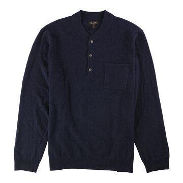 Tasso Elba Mens Cashmere Henley Sweater