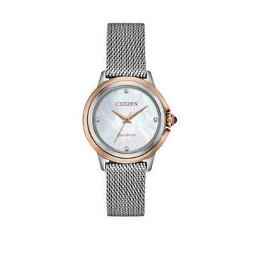 Citizen Women's Citizen Ceci Silver-Tone Stainless Steel Bracelet Watch -
