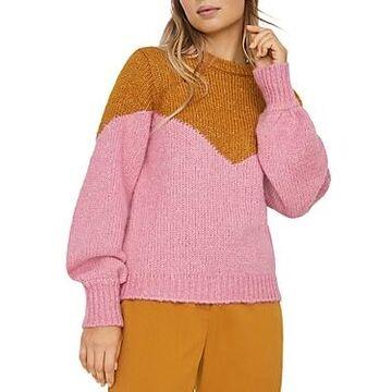 Vero Moda Color Blocked Blouson Sleeve Sweater