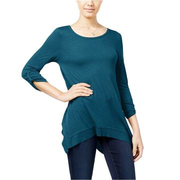 Hippie Rose Womens Heathered Pullover Blouse