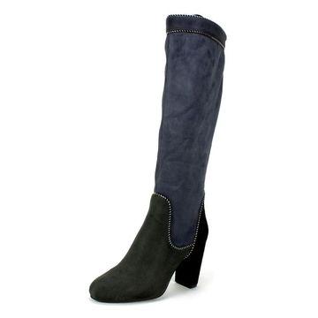 Rialto Womens collette Fabric Almond Toe Knee High Fashion Boots