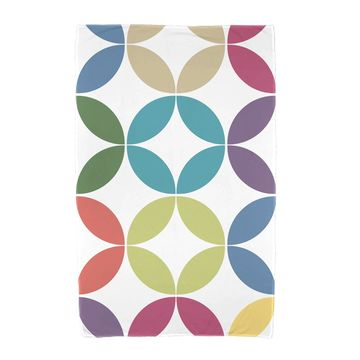 36 x 72-inch E by Design Eye Opener Geometric Print Beach Towel