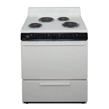 Premier 30-in 4 Elements 3.9-cu ft Freestanding Electric Range (Biscuit) | EDK100TP