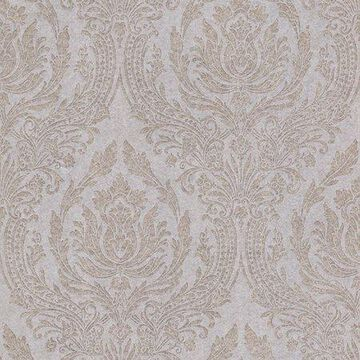 Kenneth James Pastiche Cream Damask Wallpaper