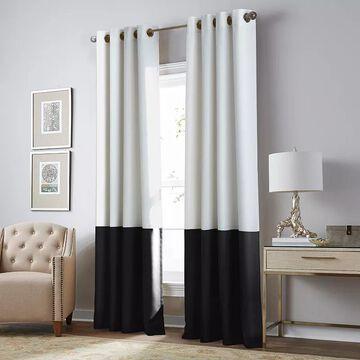CHF Kendall Blackout Window Curtain, White, 50X63