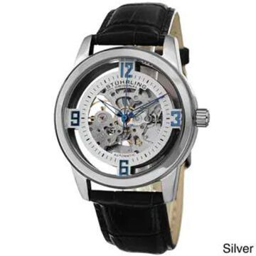 Stuhrling Original Men's Automatic Winchester Skeleton Leather Strap Watch