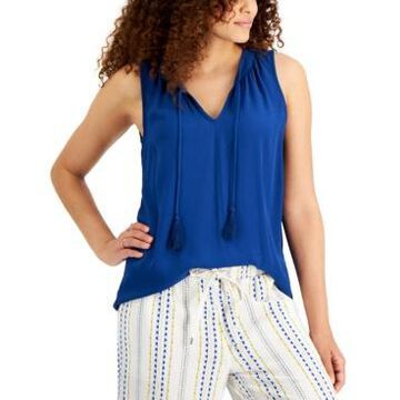 Style & Co Petite Tie-Neck Top, Created for Macy's
