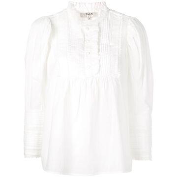 lace trim blouse