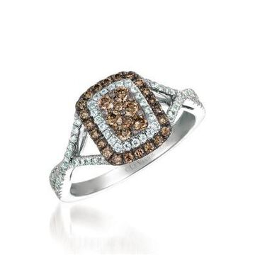 Le Vian Le Vian Chocolatier Ring With Chocolate And Vanilla Diamonds In 14K Vanilla Gold -