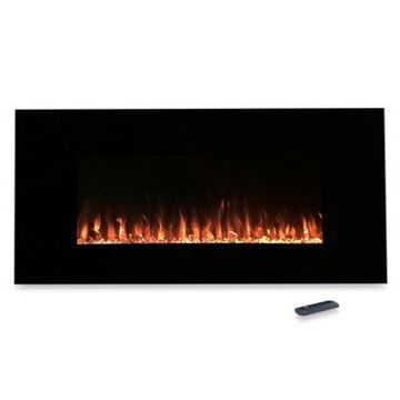 Northwest 36-Inch Fire and Ice Electric Fireplace Heater in Black