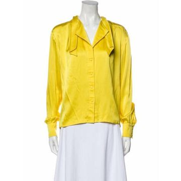 Vintage Late 1980's - Early 1990's Blouse Yellow