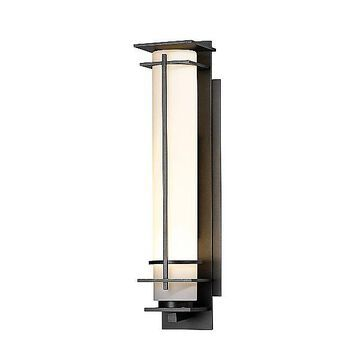 After Hours Outdoor Wall Light by Hubbardton Forge - Color: Beige - Finish: Black - (307858-1012)