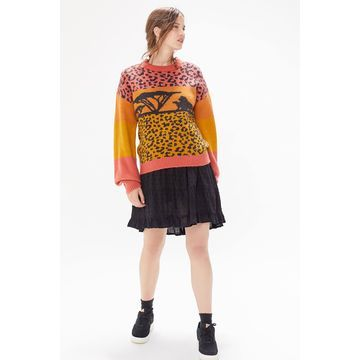 MINKPINK X Disney The Lion King Sunset Intarsia Knit Sweater