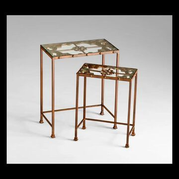 Cyan Design 04887 Gunnison Nesting Tables Rust Indoor Furniture Tables Accent