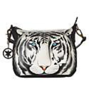Anuschka Hand-Painted Leather Convertible Hobo with Accessories - Golden Horse