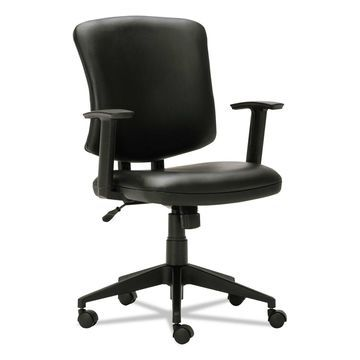 Alera Everyday Task Office Chair Black Leather TE4819