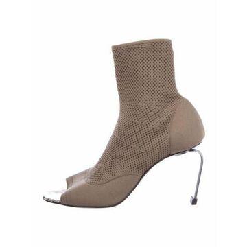Crochet Trim Sock Boots