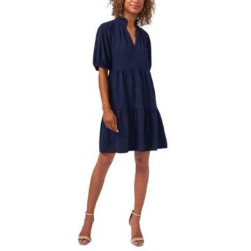 Msk Puff-Sleeve Babydoll Dress