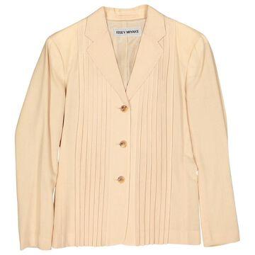 Issey Miyake Beige Wool Jackets