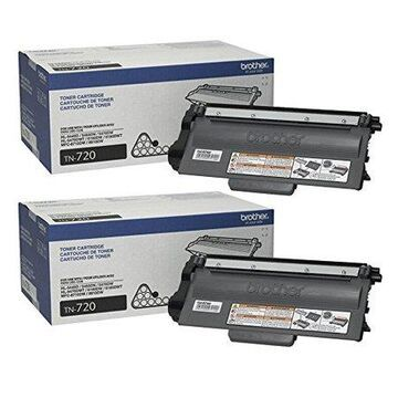 Brother Genuine Standard Yield Toner Cartridges, TN720, Replacement Black Toner Two Pack, Page Yield Up To 3,000 Pages/Cartridge